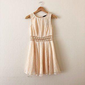 ASOS New Look Crochet Lace Daisy Skater Dress